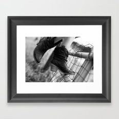 if it's not those cow boy boots in the summer Framed Art Print
