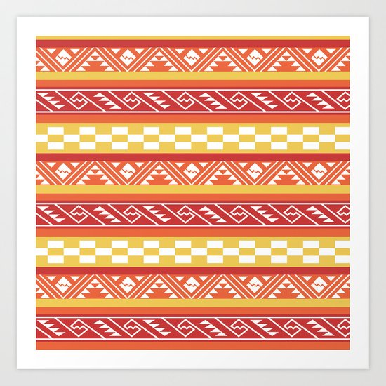 Desert Dream : Southwest Stripes Art Print