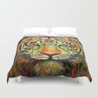 tiger Duvet Covers featuring Tiger by nicebleed