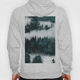 Foggy Forest Fun - Turquoise Mountains Hoody