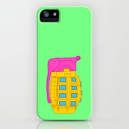 Yellow and Pink Toy Hand Grenade iPhone Case