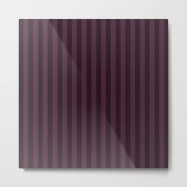 Eggplant Purple Stripes Pattern Metal Print