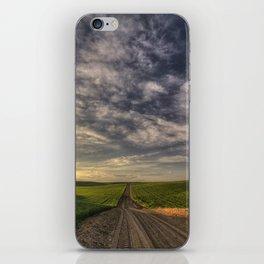 Back Road Solitude iPhone Skin