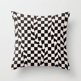 Retro Optical Art - modern, mid century print, sale, nordic, paint, slowlife, deco, iphone, wellbein Throw Pillow