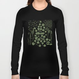 Pond Affair in Pink and Green Long Sleeve T-shirt