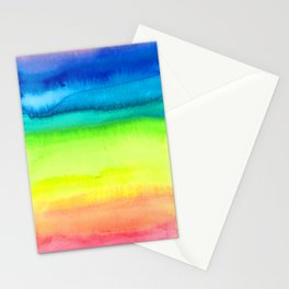 Rainbow Gradient Madness Watercolor by Imaginarium Creative Studios Stationery Cards