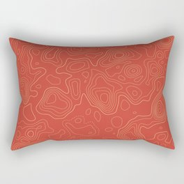 Topographic Map 02A Rectangular Pillow