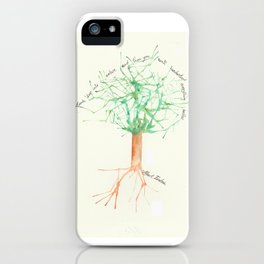 Organic Watercolor Tree with Einstein Quote iPhone Case