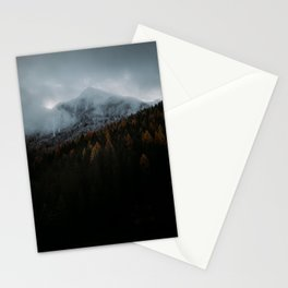 Blue Autumn in The Mountains Stationery Cards