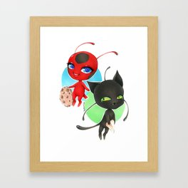 Miraculous Ladybug - Tikki and Plagg Framed Art Print