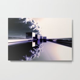 Q-City Four Vio Metal Print