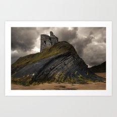 Forgotten castle in western Ireland Art Print