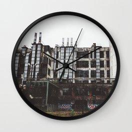 Factory Town Wall Clock