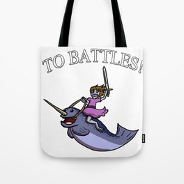 Battle Narwhal Tote Bag