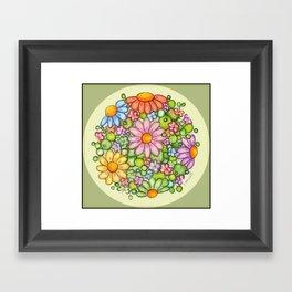 Colorful Burst Orb Framed Art Print