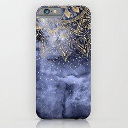 whimsical gold mandala confetti design iPhone Case