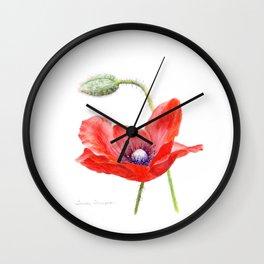 Red Poppy by Teresa Thompson Wall Clock