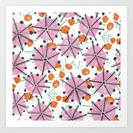 Umbrella Tops Art Print