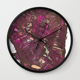 Feminine Energy Abstract Geometric Painting Wall Clock