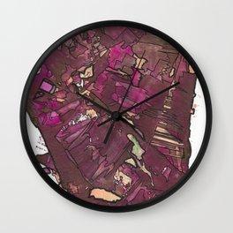 Feminine Energy Abstract Geometric Painting Wall Clock