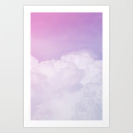 Happy Pastel Clouds | Lavender Pink Art Print