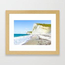 Chalk Cliffs of the Jurassic Coast Framed Art Print