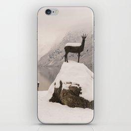The Stag At Lake Bohinj iPhone Skin