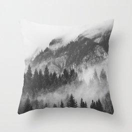 Vancouver Fog B&W Throw Pillow