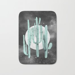 Cactus Nights Full Moon Starry Sky Sage by Nature Magick Bath Mat