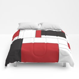 Geometric Abstract - Rectangulars Colored Comforters