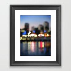 The City Never Sleeps Framed Art Print