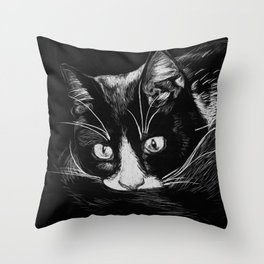 Hank the Cat Throw Pillow
