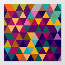 Multicolor triangle shapes pattern Canvas Print