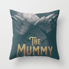 The Mummy, Boris Karloff, 1932 cult horror movie poster, vintage affiche Throw Pillow