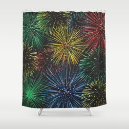 Fireworks in the Sky Shower Curtain