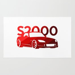 Honda S2000 - classic red - Rug
