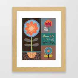 Flowerful Framed Art Print