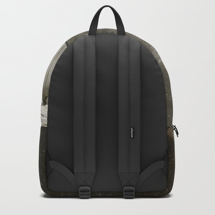 Space Traveller sepia Backpack