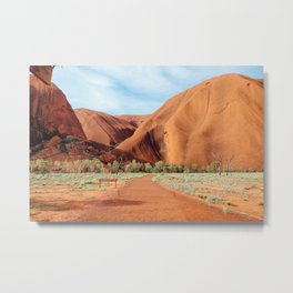 The Red Centre Metal Print
