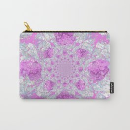 DELICATE LILAC & WHITE PHLOX FLOWERS  ABSTRACT PATTERNS Carry-All Pouch