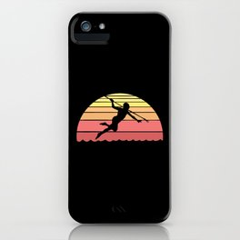 Spearfisher Graphic Design For Scuba Diving iPhone Case