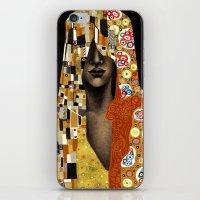 klimt iPhone & iPod Skins featuring Klimt Me by Estúdio Marte