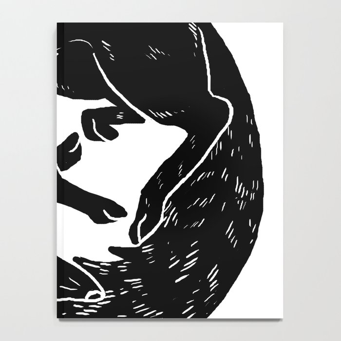 black and white thoughts Notebook