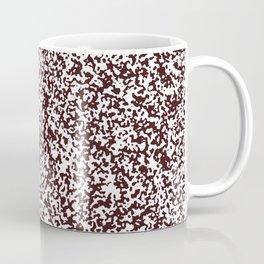 Tiny Spots - White and Dark Sienna Brown Coffee Mug