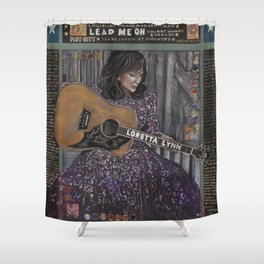 Loretta Lynn Shower Curtain