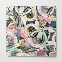 Modern geometric abstract pattern Metal Print