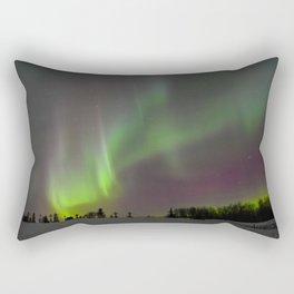 Winter Aurora Borealis Rectangular Pillow
