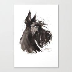 Scottish Terrier profile Canvas Print