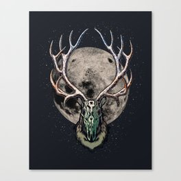 Full Moon of a Reindeer Canvas Print