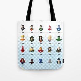 Superhero Timeline Tote Bag